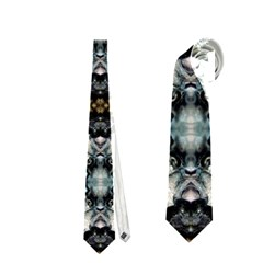 Royal Blue Abstract Pattern Neckties (One Side)
