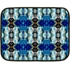 Royal Blue Abstract Pattern Double Sided Fleece Blanket (Mini)