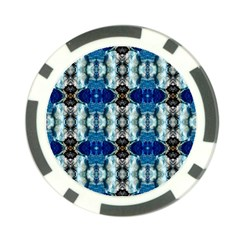 Royal Blue Abstract Pattern Poker Chip Card Guards (10 pack)
