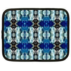 Royal Blue Abstract Pattern Netbook Case (XL)