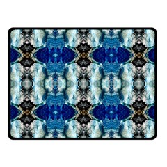 Royal Blue Abstract Pattern Fleece Blanket (Small)