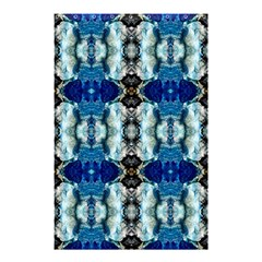 Royal Blue Abstract Pattern Shower Curtain 48  x 72  (Small)