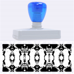 Royal Blue Abstract Pattern Rubber Address Stamps (XL)