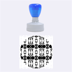 Royal Blue Abstract Pattern Rubber Round Stamps (medium)