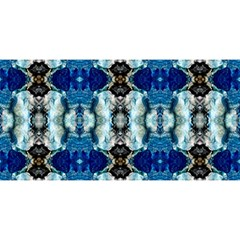 Royal Blue Abstract Pattern You Are Invited 3d Greeting Card (8x4)