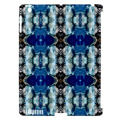 Royal Blue Abstract Pattern Apple iPad 3/4 Hardshell Case (Compatible with Smart Cover)