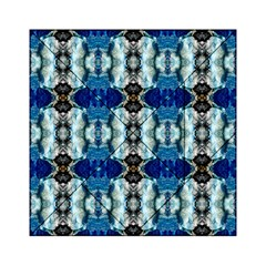 Royal Blue Abstract Pattern Acrylic Tangram Puzzle (6  x 6 )