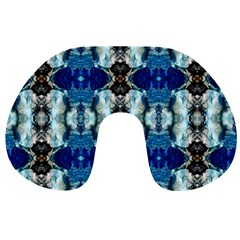 Royal Blue Abstract Pattern Travel Neck Pillows