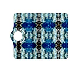 Royal Blue Abstract Pattern Kindle Fire HDX 8.9  Flip 360 Case
