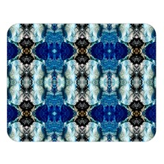 Royal Blue Abstract Pattern Double Sided Flano Blanket (Large)