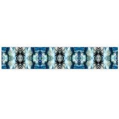 Royal Blue Abstract Pattern Flano Scarf (large)