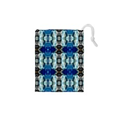 Royal Blue Abstract Pattern Drawstring Pouches (XS)