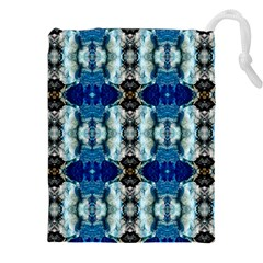 Royal Blue Abstract Pattern Drawstring Pouches (XXL)
