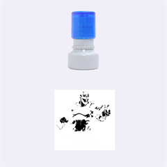 Lasereyesfinal5 Rubber Round Stamps (Small)