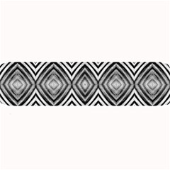 Black White Diamond Pattern Large Bar Mats