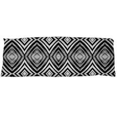 Black White Diamond Pattern Body Pillow Cases (Dakimakura)
