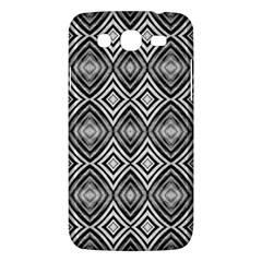 Black White Diamond Pattern Samsung Galaxy Mega 5.8 I9152 Hardshell Case