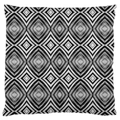 Black White Diamond Pattern Standard Flano Cushion Cases (Two Sides)