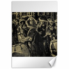 Group Of Candombe Drummers At Carnival Parade Of Uruguay Canvas 12  x 18