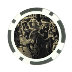 Group Of Candombe Drummers At Carnival Parade Of Uruguay Poker Chip Card Guards (10 pack)