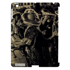 Group Of Candombe Drummers At Carnival Parade Of Uruguay Apple iPad 3/4 Hardshell Case (Compatible with Smart Cover)
