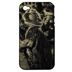 Group Of Candombe Drummers At Carnival Parade Of Uruguay Apple iPhone 4/4S Hardshell Case (PC+Silicone)