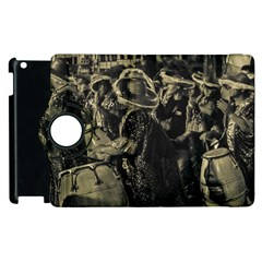 Group Of Candombe Drummers At Carnival Parade Of Uruguay Apple iPad 2 Flip 360 Case