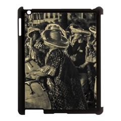 Group Of Candombe Drummers At Carnival Parade Of Uruguay Apple iPad 3/4 Case (Black)