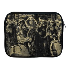 Group Of Candombe Drummers At Carnival Parade Of Uruguay Apple iPad 2/3/4 Zipper Cases