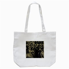 Group Of Candombe Drummers At Carnival Parade Of Uruguay Tote Bag (White)