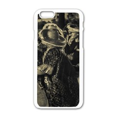 Group Of Candombe Drummers At Carnival Parade Of Uruguay Apple iPhone 6/6S White Enamel Case