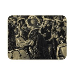 Group Of Candombe Drummers At Carnival Parade Of Uruguay Double Sided Flano Blanket (Mini)