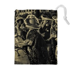 Group Of Candombe Drummers At Carnival Parade Of Uruguay Drawstring Pouches (Extra Large)
