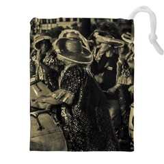 Group Of Candombe Drummers At Carnival Parade Of Uruguay Drawstring Pouches (XXL)