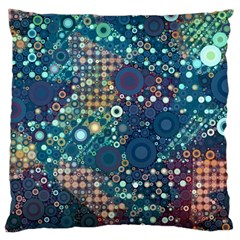 Blue Bubbles Large Cushion Cases (One Side)