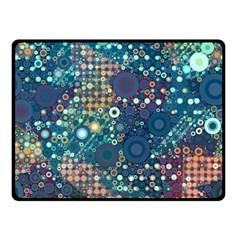 Blue Bubbles Double Sided Fleece Blanket (Small)