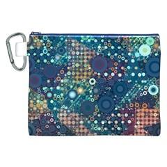 Blue Bubbles Canvas Cosmetic Bag (XXL)
