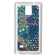 Blue Bubbles Samsung Galaxy Note 4 Case (White)