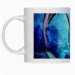 Awersome Marlin In A Fantasy Underwater World White Mugs