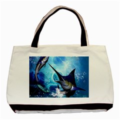 Awersome Marlin In A Fantasy Underwater World Basic Tote Bag