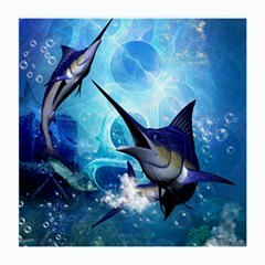 Awersome Marlin In A Fantasy Underwater World Medium Glasses Cloth (2-Side)
