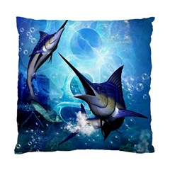 Awersome Marlin In A Fantasy Underwater World Standard Cushion Cases (Two Sides)
