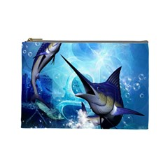 Awersome Marlin In A Fantasy Underwater World Cosmetic Bag (Large)