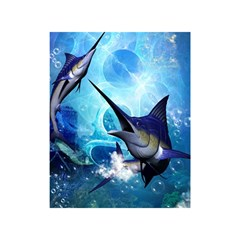 Awersome Marlin In A Fantasy Underwater World Shower Curtain 48  x 72  (Small)
