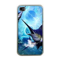 Awersome Marlin In A Fantasy Underwater World Apple iPhone 4 Case (Clear)