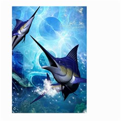 Awersome Marlin In A Fantasy Underwater World Large Garden Flag (Two Sides)