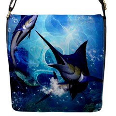 Awersome Marlin In A Fantasy Underwater World Flap Messenger Bag (S)