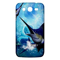 Awersome Marlin In A Fantasy Underwater World Samsung Galaxy Mega 5.8 I9152 Hardshell Case