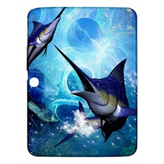 Awersome Marlin In A Fantasy Underwater World Samsung Galaxy Tab 3 (10.1 ) P5200 Hardshell Case