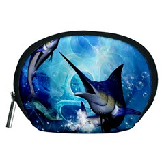 Awersome Marlin In A Fantasy Underwater World Accessory Pouches (Medium)